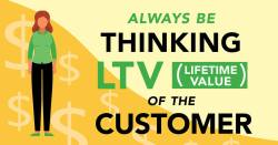 Always Be Thinking LTV (Lifetime Value) of the Customer