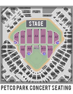 Eagles concert seating chart also the at petco park september rh petcoparkinsider