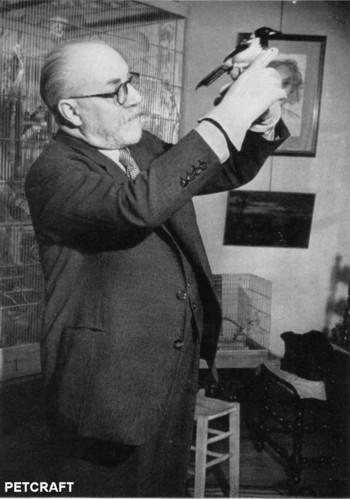 French painter, Henri Matisse kept birds.