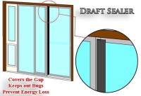 Draft Sealer for Sliding Glass Doors