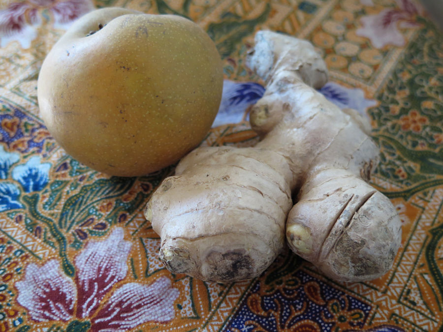 Asian pear and ginger
