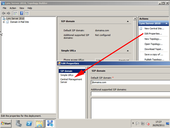Lync Edit Properties