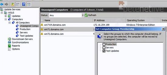 WSUS Computer Groups