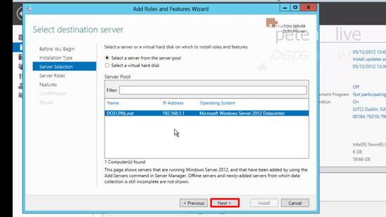 Local Role Windows Server 2012