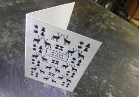 Letterpress-joulukortti