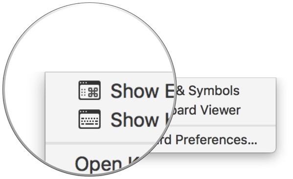 Show emoji menu