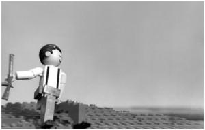 "LEGO - Robert Capa, Den Spanske Borgerkrig - ""The Falling Soldier""."