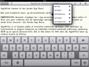 AppWriter - screenshot