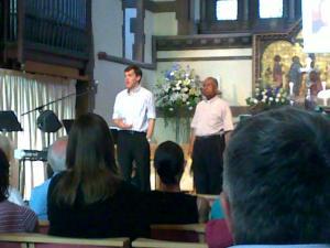 Paul Harcourt introducing Vinay Samuel