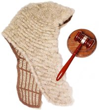 Judge's Wig and Gavel