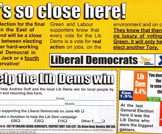 Lib Dem Leaflet, May 2009