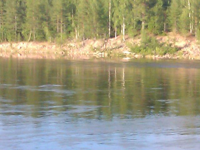 Ytterligare en bild över Umeälven tagen från Klabböle