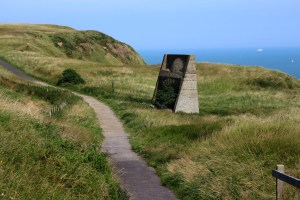 Acoustic Mirror (Early Warning System) 1917 on the cliffs between Dover and Capel Le Ferne. Walking Wye to Dover 31 7 14