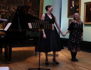 Soprano Eve Daniell and Composer Sadie Harrison after the premiere of '...and love...' NPG 24 4 15