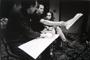 Aaron Shorr, Nigel Clarke, Sidika Ozdil discussing George Crumb and Nigel Clarke's 'Miraculous Violin' at the same time! Ankara 2003.