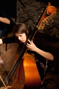 Bassist Rachel Meerloo, who will be playing in the Mendelssohn Sextet (taken at Wilton's My 2009). Photo: Richard Bram