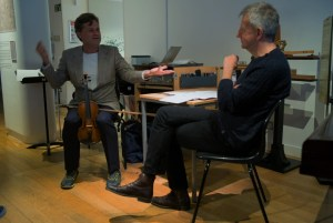 In conversation, musicking, with Roger Redgate 9 10 15 (Photo: Richard Bram)