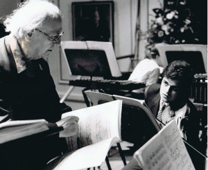 Working with Messiaen as a student at the RAM, 1986