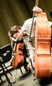 Double-bass/composer Carter Callison (Photo David Gorton)