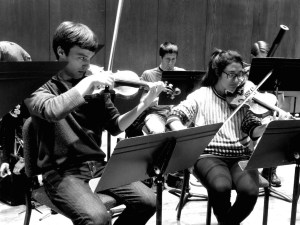 Matt Lammers an Audrey Lee in rehearsal 16 4 14