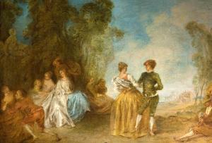 Jean Baptiste Pater Valenciennes- Fetes-galantes-avec-un-couple-de-danseurs 1695