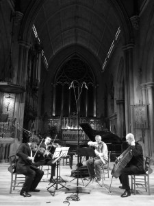 Kreutzer Quartet rehearsing 'Images from a Closed Ward' 29 10 14 Photo Michael Hersch