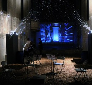 DNA Bubbles, the film of the server room, Charlotte Jarvis and film crew from BBC Newsnight