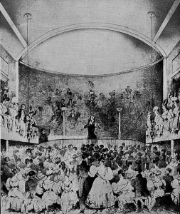 Paganini at the Albion Music Hall, Leeds. 1832 Lithograph by Henry Andrews Taylow