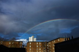 Rainbow over Woolwich
