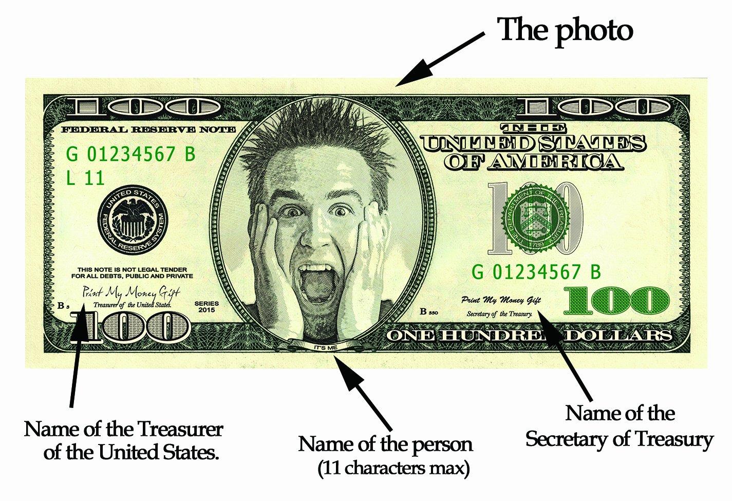 Custom Dollar Bill Template