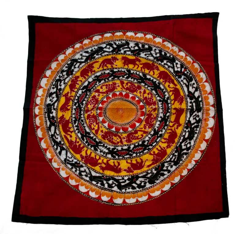 Roue De La Vie Batik Du Sri Lanka Qualit Exceptionnelle