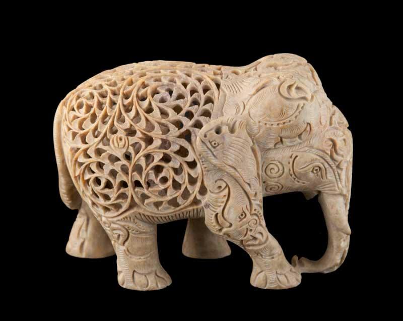 Statue Elephant en pierreSculpture de qualitObjet dco
