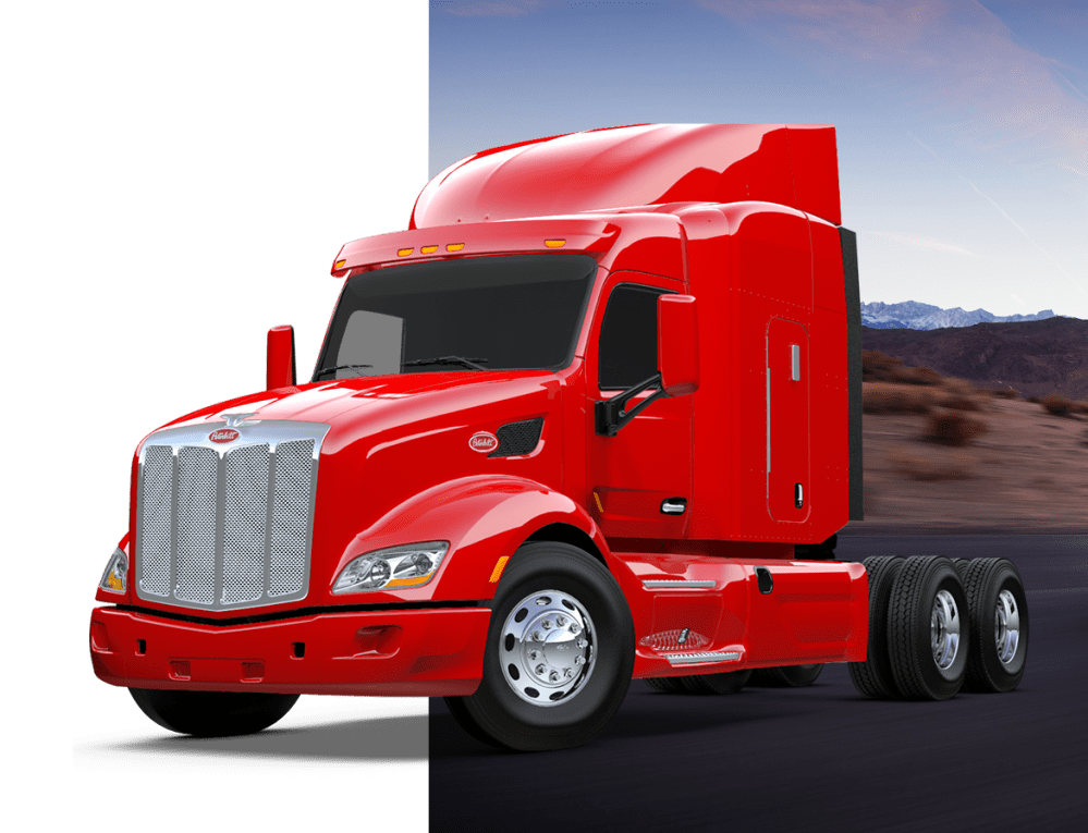 medium resolution of peterbilt on highway truck
