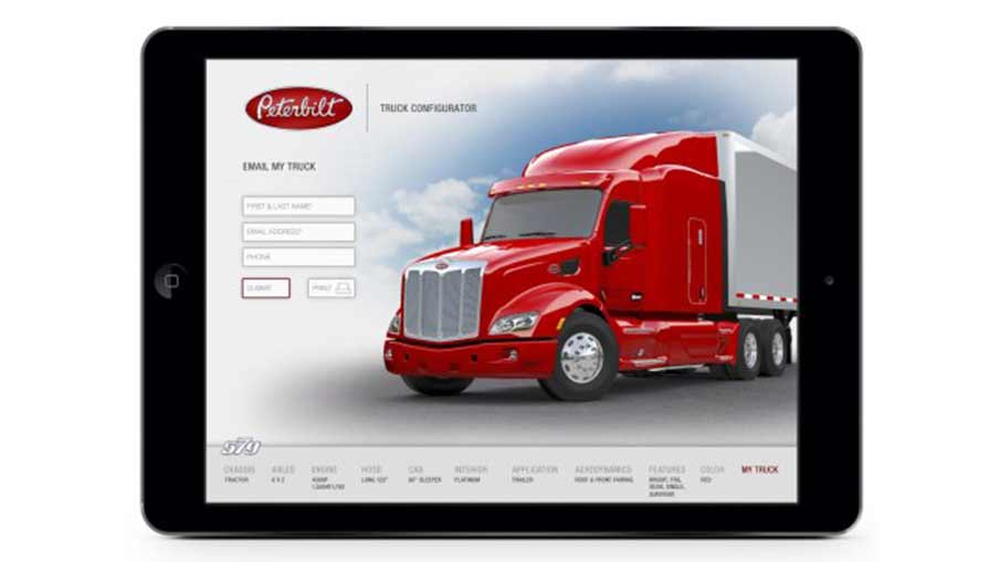 Peterbilt's new configurator app allows users to build the Model 579 of their dreams
