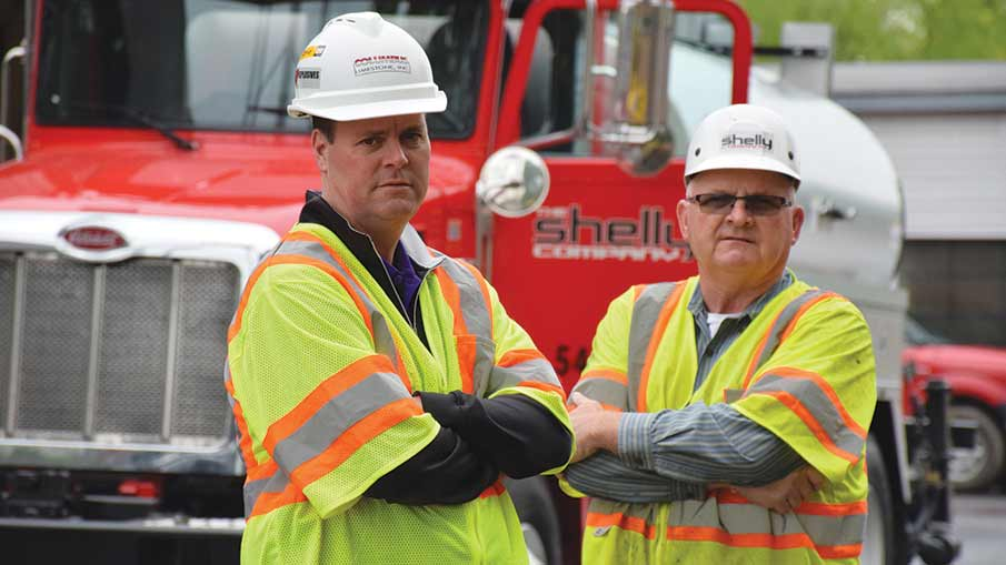Vice President of Equipment Jeff Freeman and General Superintendent Doug Cooperrider of the Shelly Company