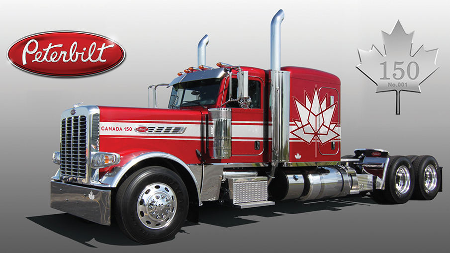 The Peterbilt Model 389 Canadian 150th Anniversary Edition.