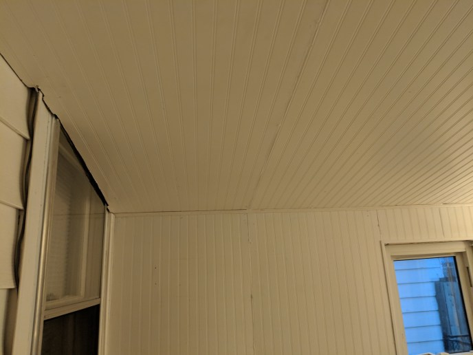 Paneling installed in a 4 season room