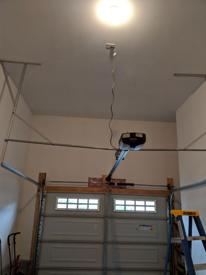 Direct Drive garage door opener installed