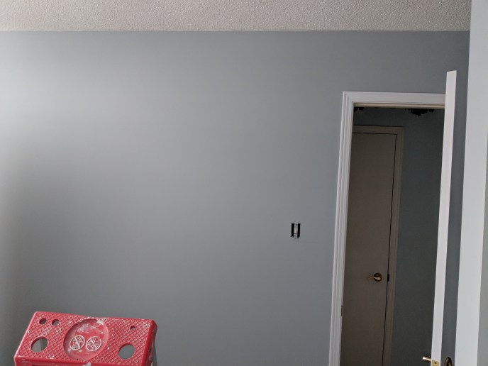 Wall painted after wallpaper border has been removed