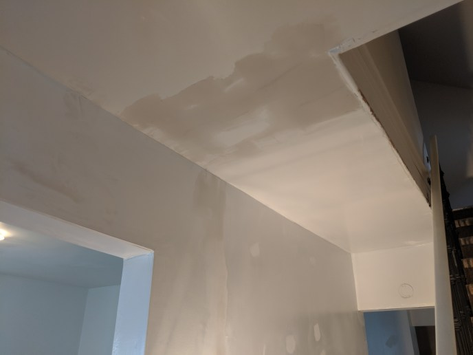 Drywall repairs to ceiling