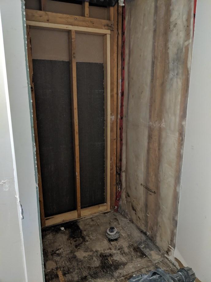 Old shower removed
