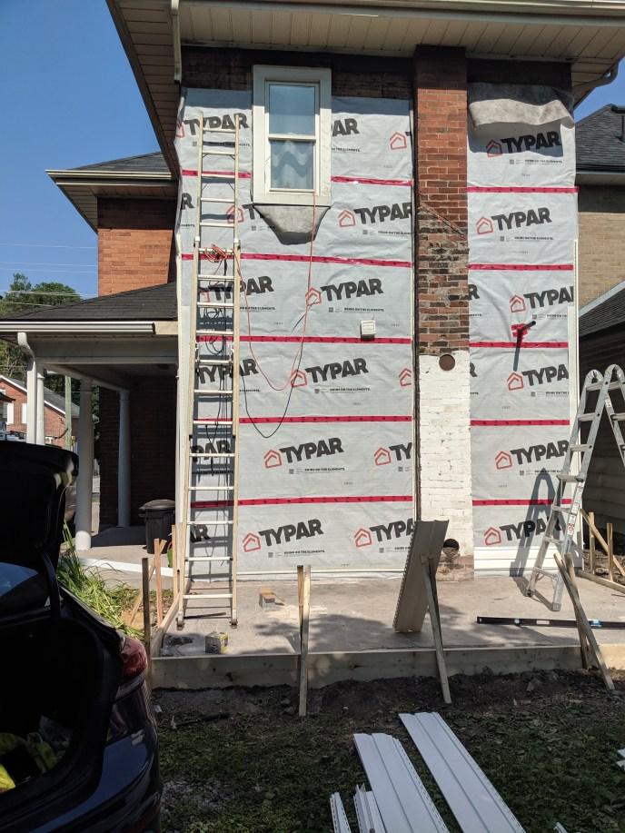 House wrap put on under siding
