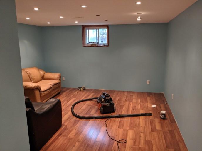 Complete basement remodel