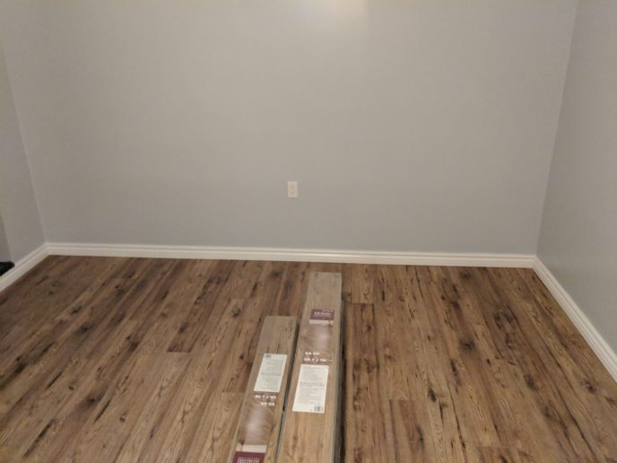 New floors installed in basement