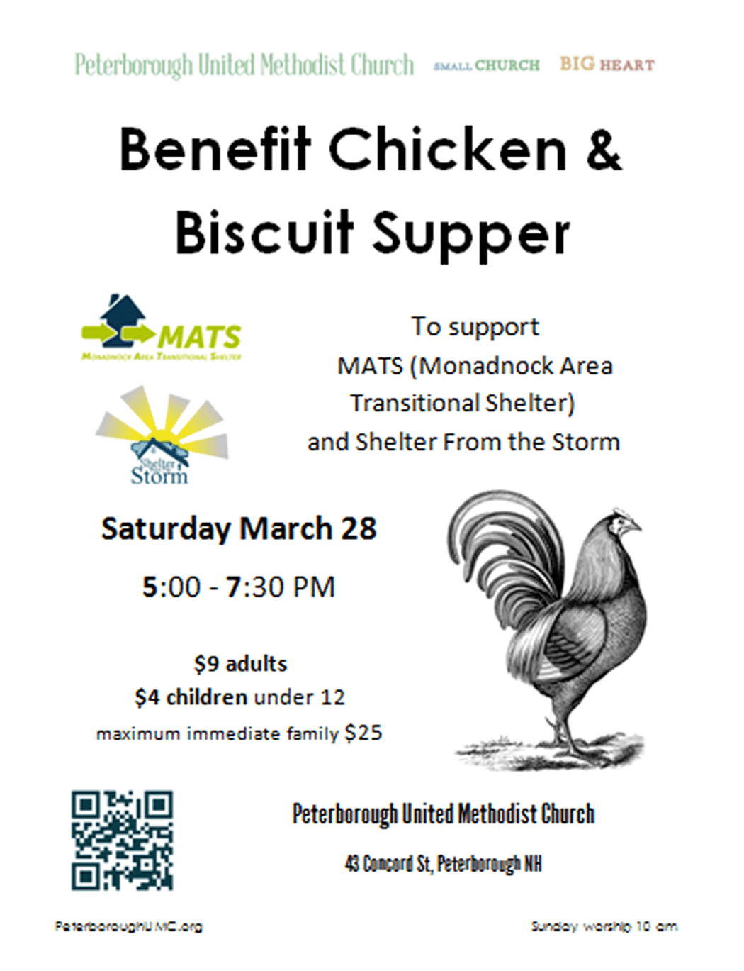 Benefit Chicken and Biscuit Supper