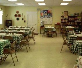 The hall all set