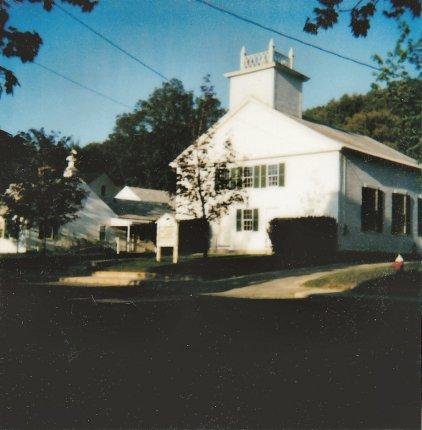 Old polariod of church