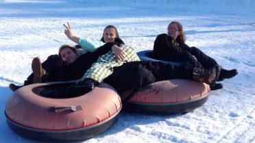 Youth group sledding