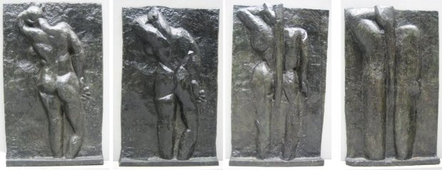 17 Matisse_-_left_to_right_'The_Back_I',_1908-09,_'The_Back_II',_1913,_'The_Back_III'_1916,_'The_Back_IV',_c._1931,_bronze,_Museum_of_Modern_Art_(New_York_City)