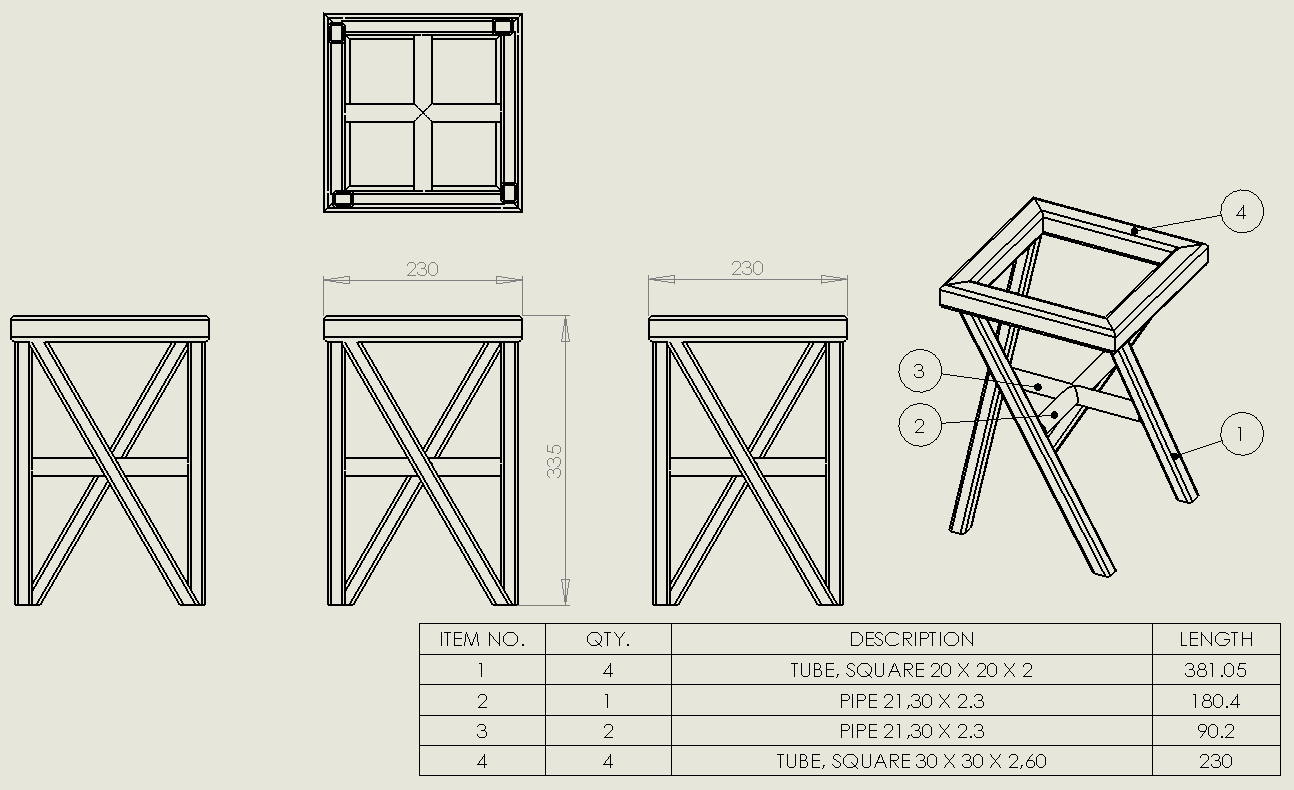 Creating drawings with individual weldment sections